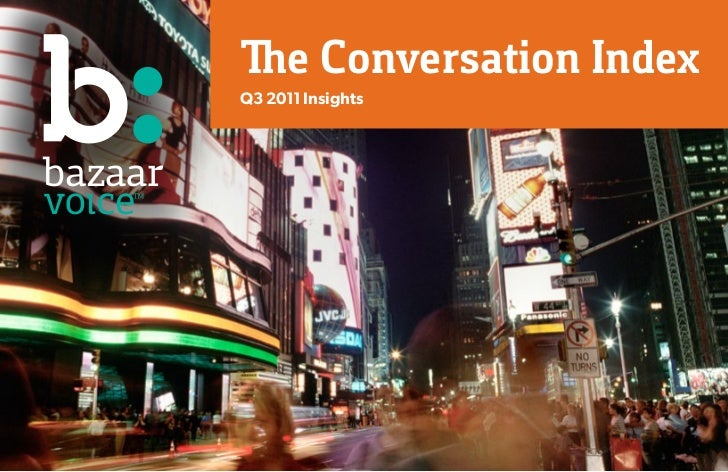 The Conversation IndexQ3 2011 Insights