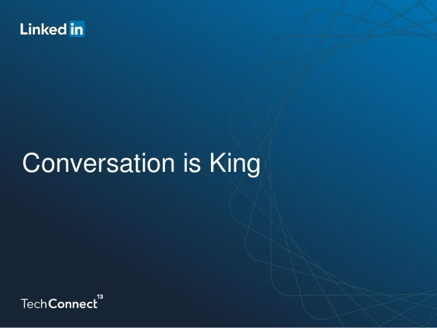 Content Isn't King, Conversation Is King