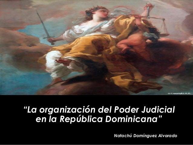"""""""La organización del Poder Judicialen la República Dominicana""""Natachú Domínguez Alvarado"""