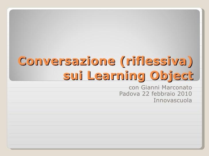 Conversazione Sui Learning Object