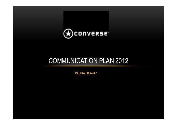 Converse communication plan 2012