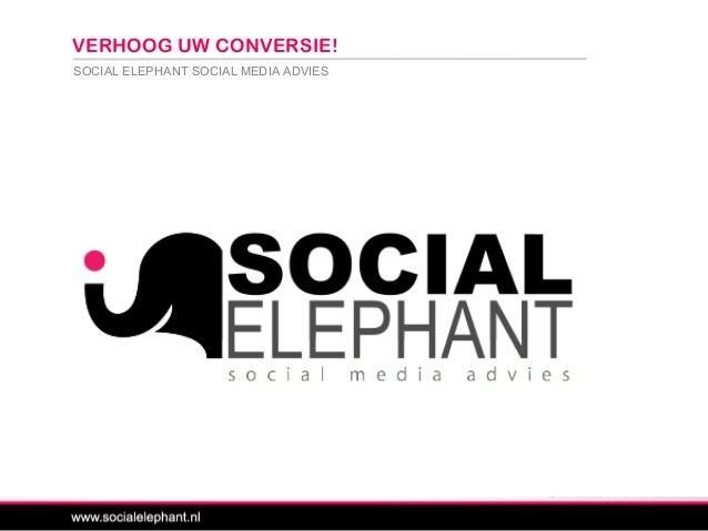 SOCIAL ELEPHANT SOCIAL MEDIA ADVIES VERHOOG UW CONVERSIE!