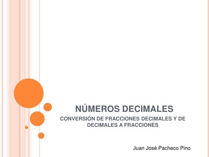 Conversión de fracciones a decimales