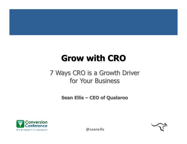 Grow with CRO - 7 Ways CRO is a Growth Driver for Your Business