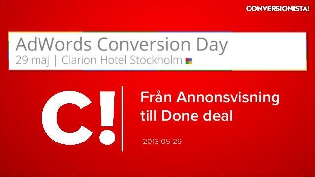Adwords Conversion Day