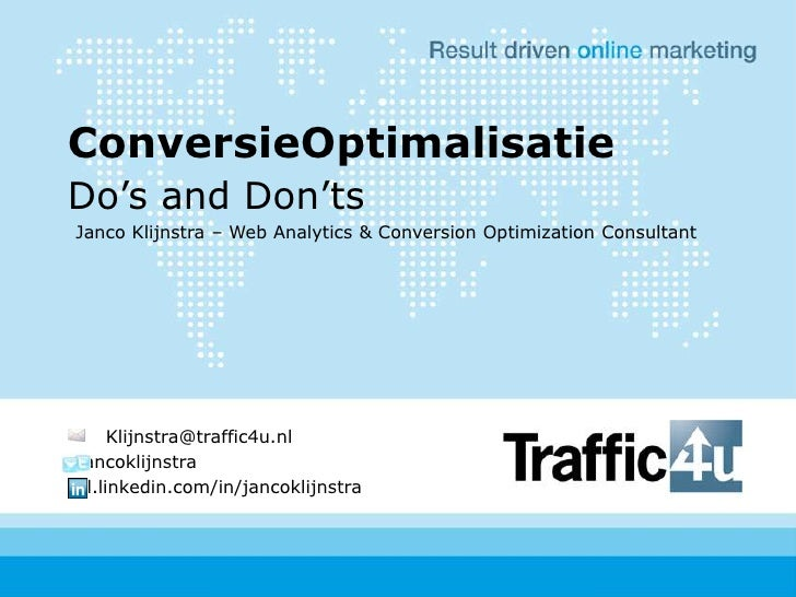 Conversion Optimization Dos And Donts