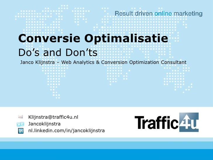Conversion Optimization Do's And Dont's