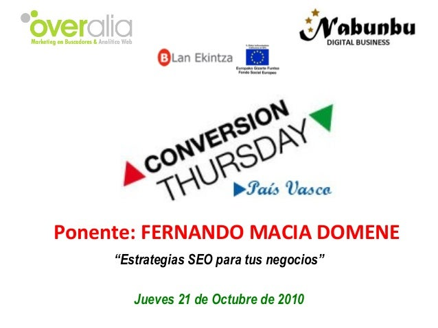 Conversion Thursday - País Vasco Bilbao - 21/10/2010
