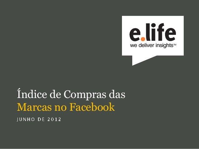 Índice de Compras dasMarcas no Facebook