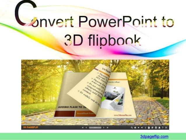 Convert Powerpoint to Flipbook