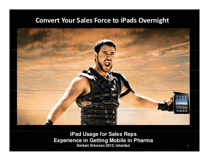 Click to edit Master title style     Convert Your Sales Force to iPads Overnight                 iPad Usage for Sales Reps...