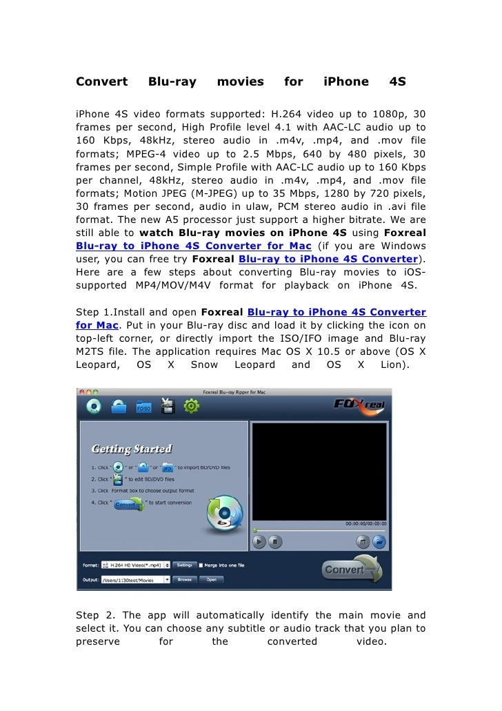 Convert blu ray movies for i phone 4s