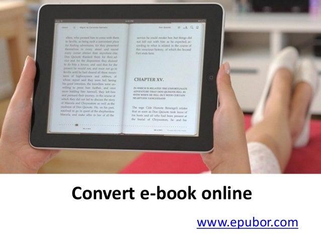 Convert e-book online