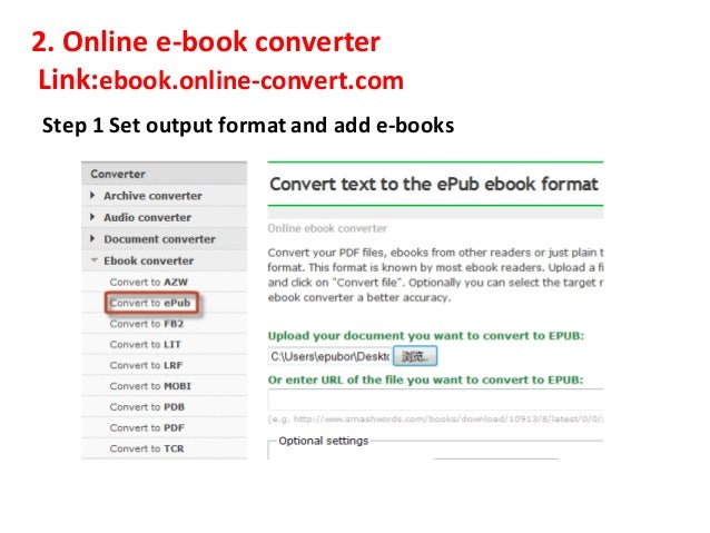 ebook online converter