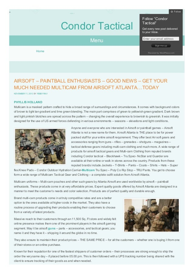 "Follow  Condor Tactical Menu  Follow ""Condor Tactical"" Get every new post delivered to your Inbox. Enter your email addres..."