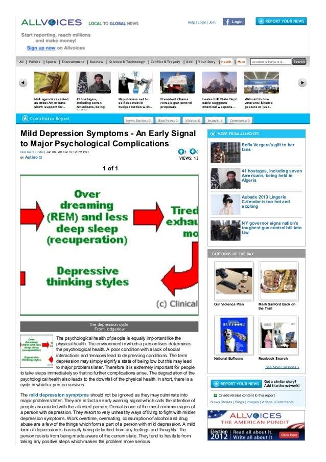 Mild Depression Symptoms