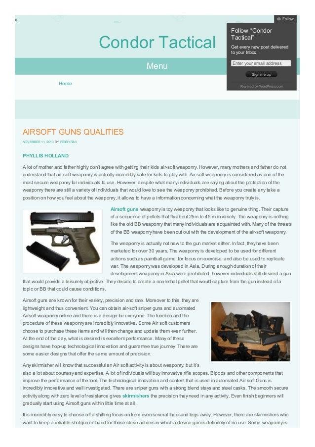 AIRSOFT GUNS QUALITIES