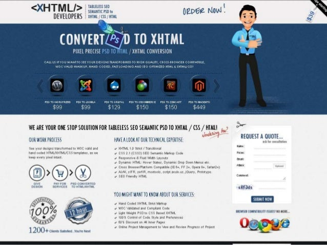 Xhtml Developers ONE STOP SOLUTION FOR PSD TO XHTML / CSS / HTML