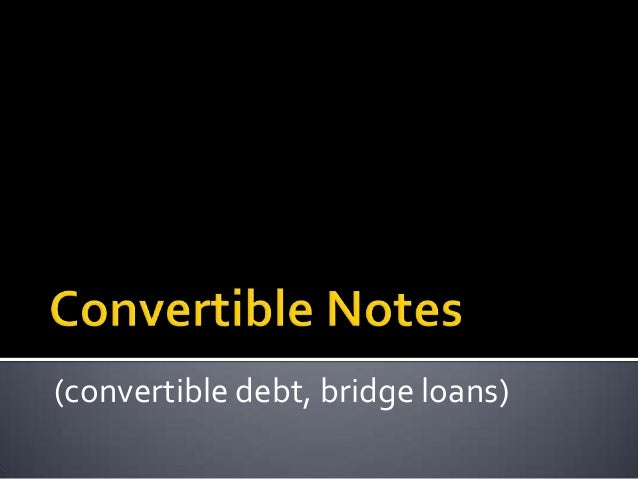 Primer on Convertible Notes