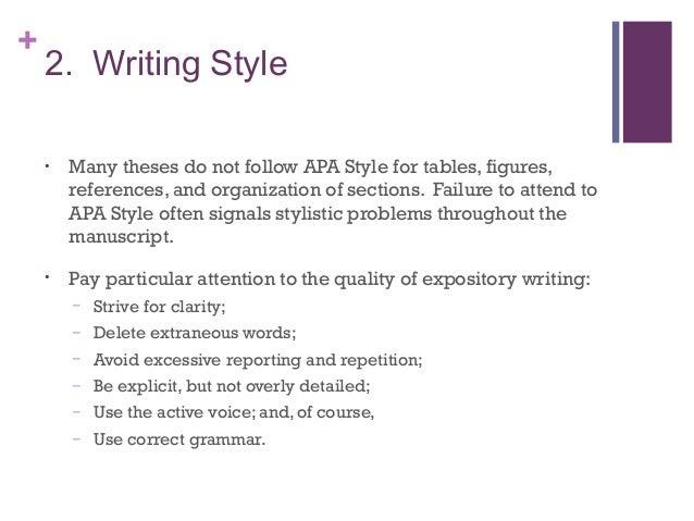 Dissertation style writing