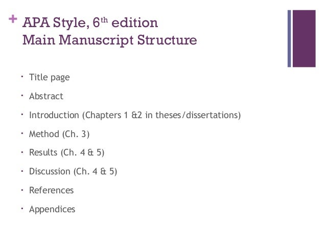 apa style for published dissertations Apa (american psychological association) style is most commonly used to cite sources within the social sciences dissertation, published lastname, f n (year.