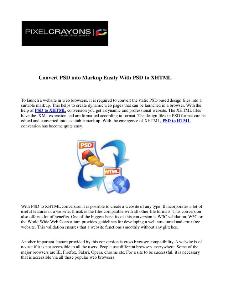 Convert psd into markup easily with psd to xhtml