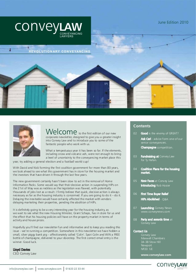 Convey Law Newsletter June 2010