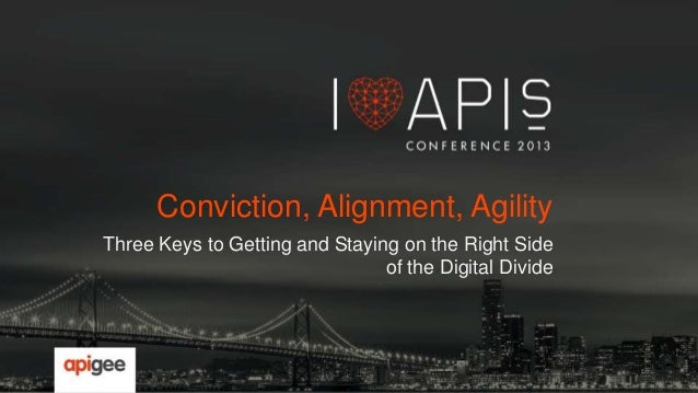 Conviction, Alignment, Agility Three Keys to Getting and Staying on the Right Side of the Digital Divide