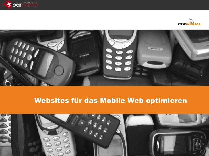 Websites für das Mobile Web optimieren