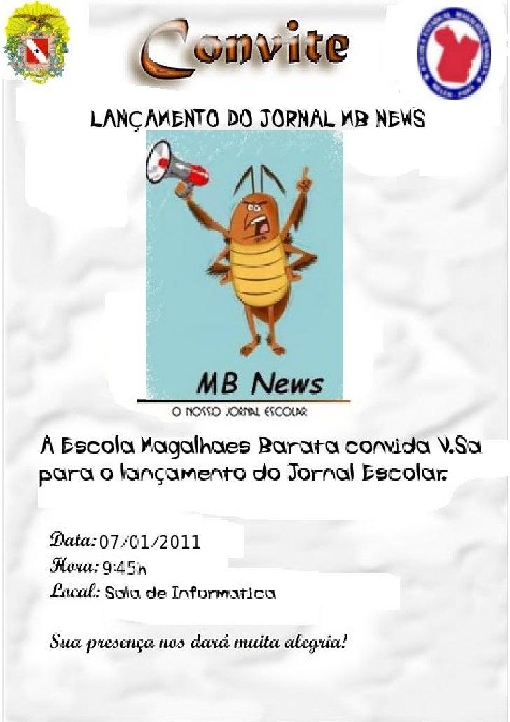 Convite  lançamento do jornal