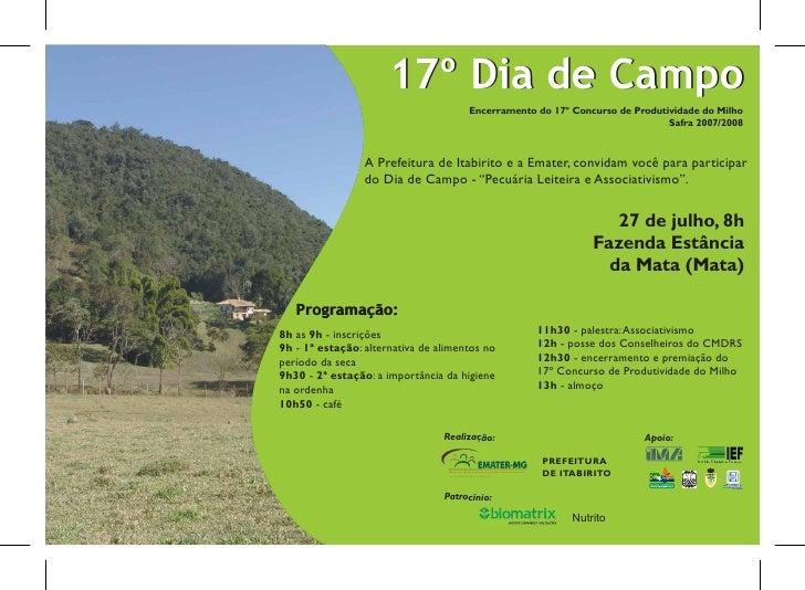 Convite dia de campo 2008