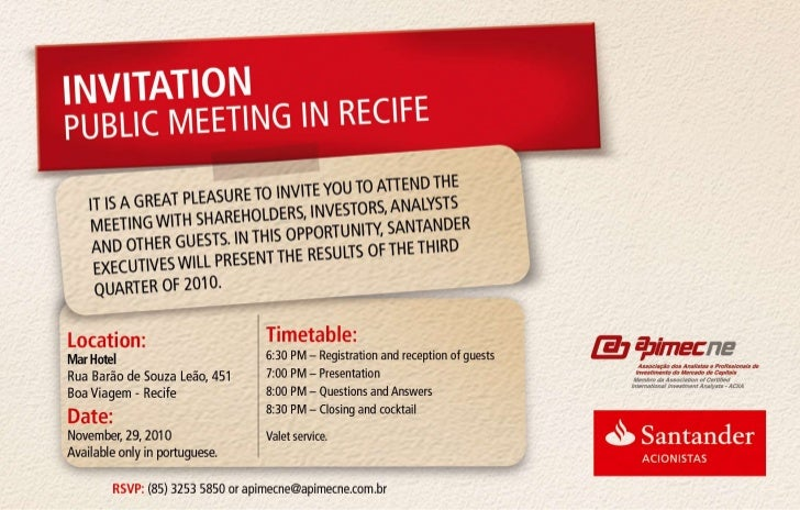 Convite recife ing