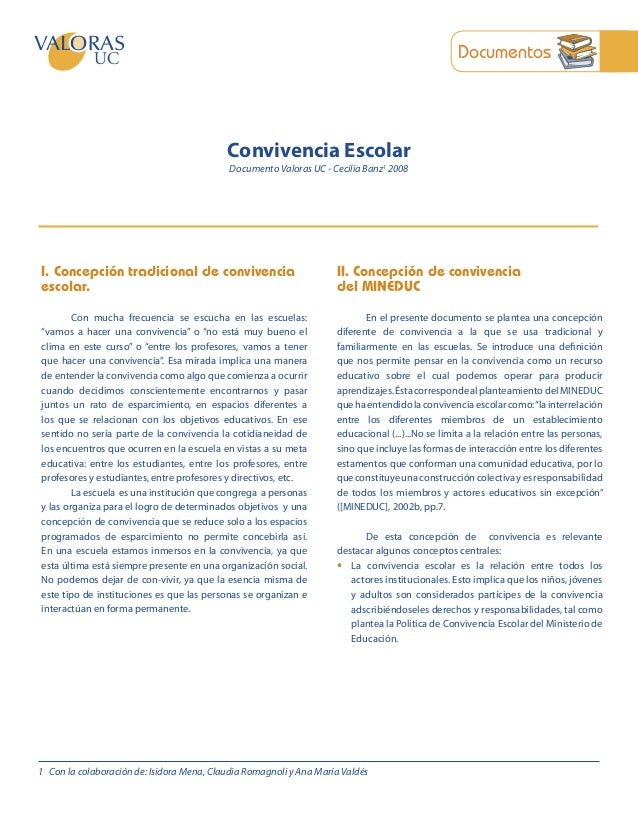 Documentos                                           Convivencia Escolar                                            Docume...