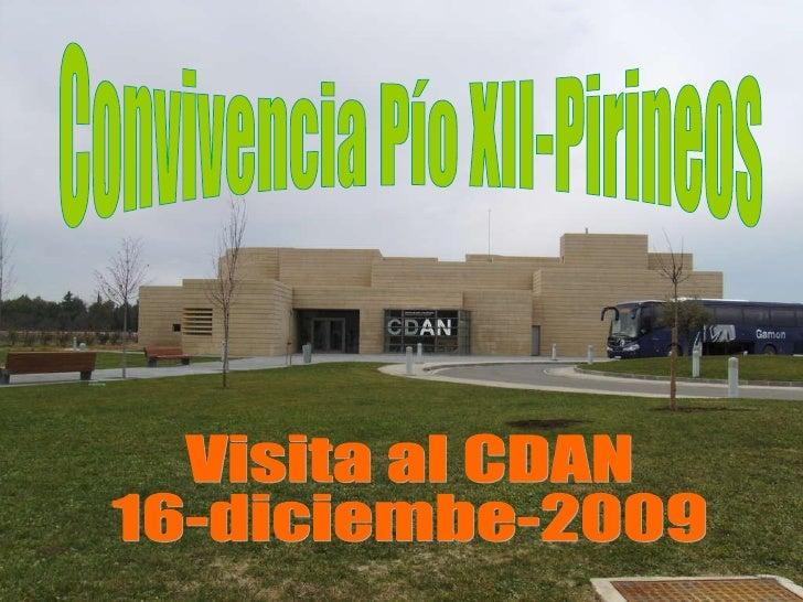 Convivencia Pío XII-Pirineos Visita al CDAN  16-diciembe-2009