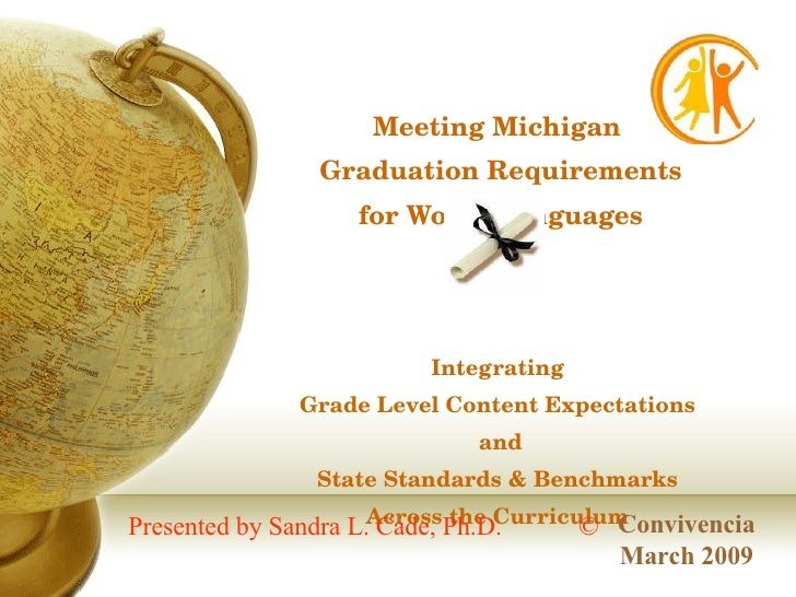 Meeting Michigan  Graduation Requirements for World Languages Integrating  Grade Level Content Expectations  and State Sta...