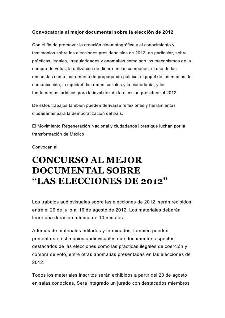 Convocatoria al-mejor-documental-sobre-la-elección-de-2012