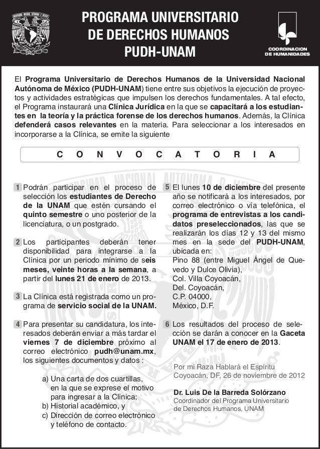 PROGRAMA UNIVERSITARIO                    DE DERECHOS HUMANOS                         PUDH-UNAM                           ...