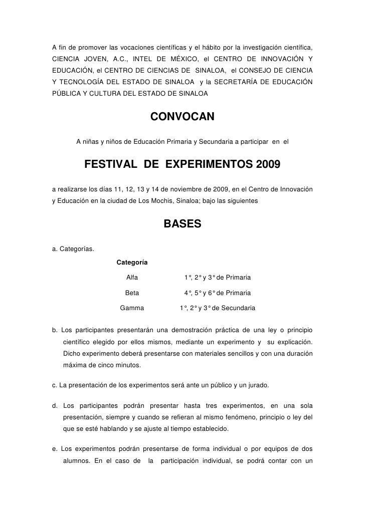 A fin de promover las vocaciones científicas y el hábito por la investigación científica, CIENCIA JOVEN, A.C., INTEL DE MÉ...