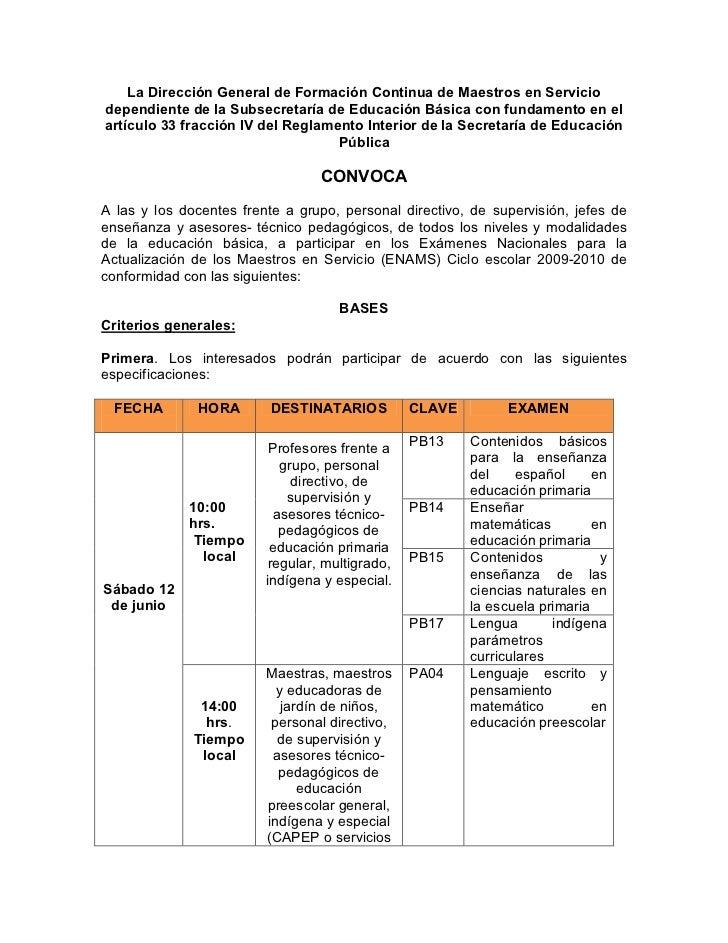 Convocatoria2010 Examenes Nacionales