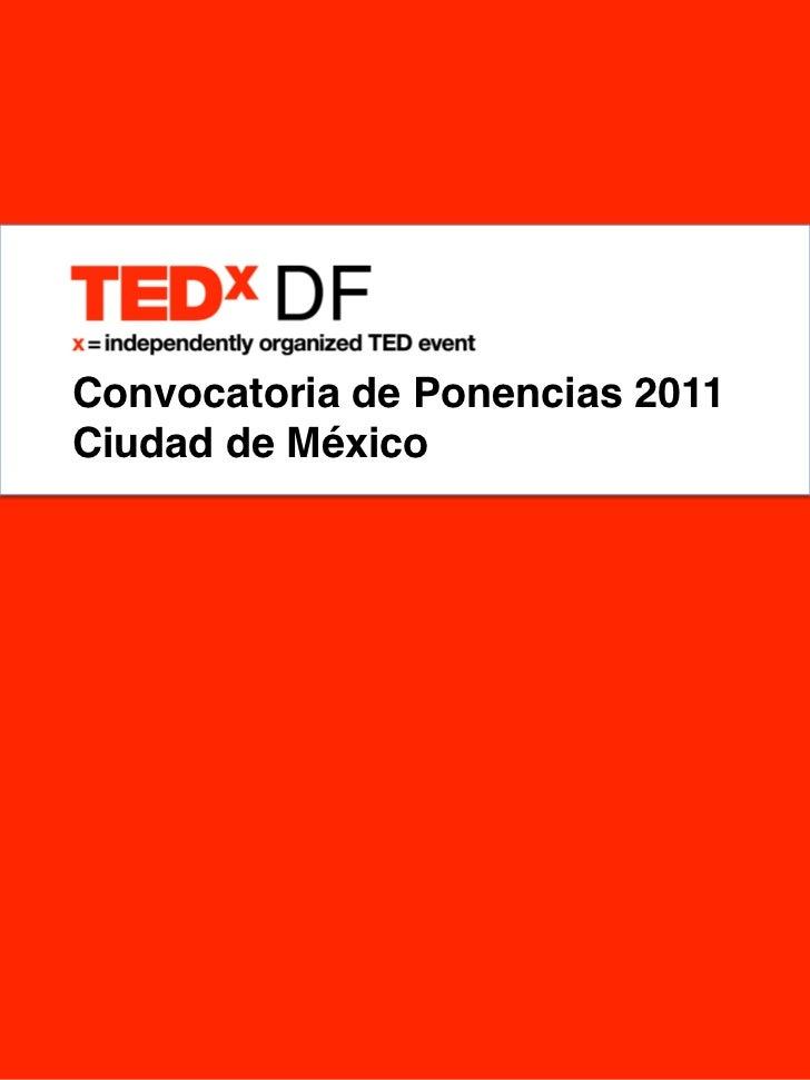 Convocatoria de Ponencias 2011!Ciudad de México!
