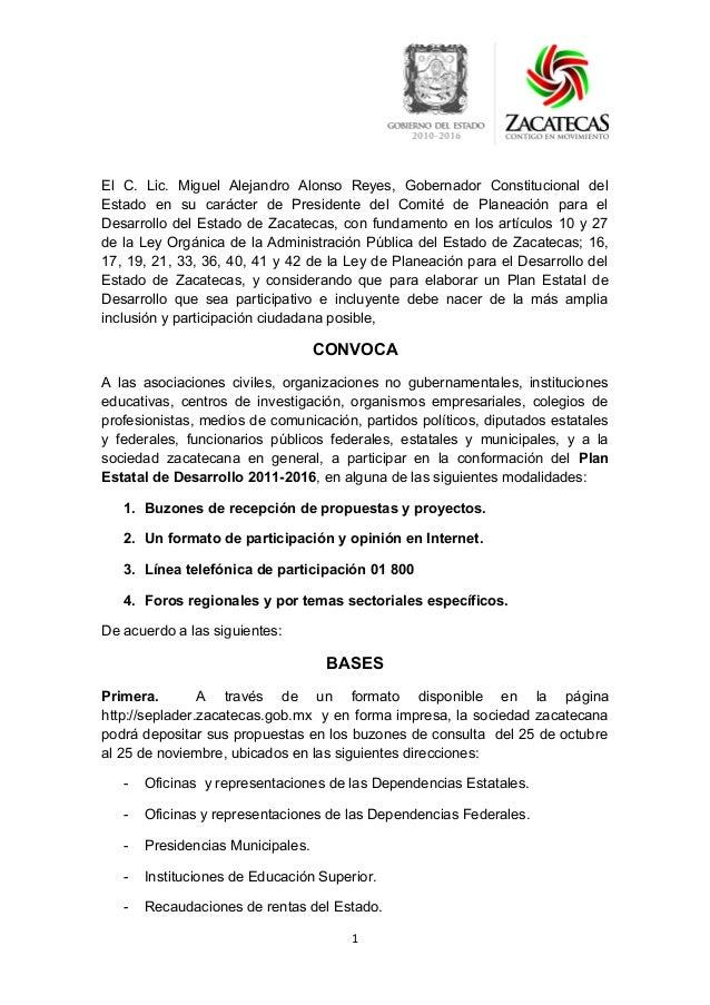 El C. Lic. Miguel Alejandro Alonso Reyes, Gobernador Constitucional del Estado en su carácter de Presidente del Comité de ...