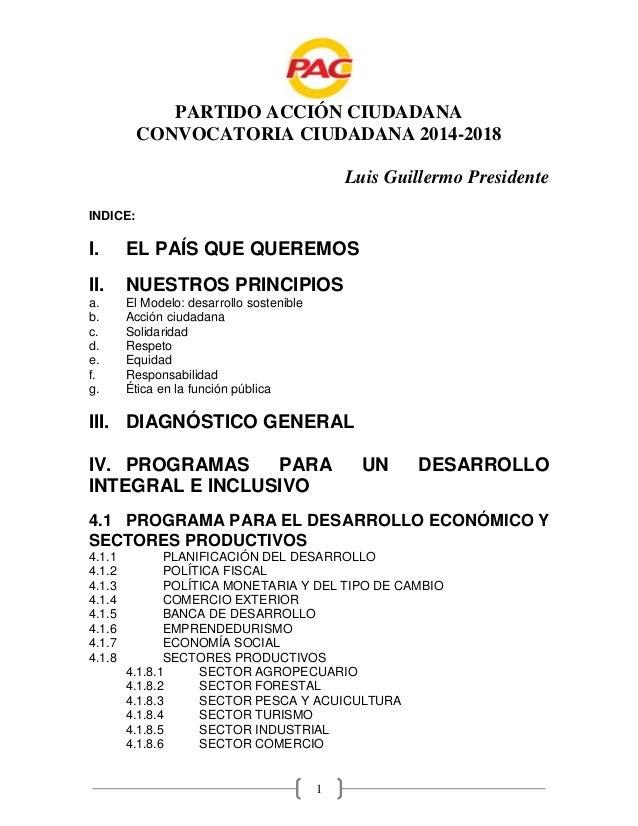 Convocatoria Ciudadada pac 2014 2018