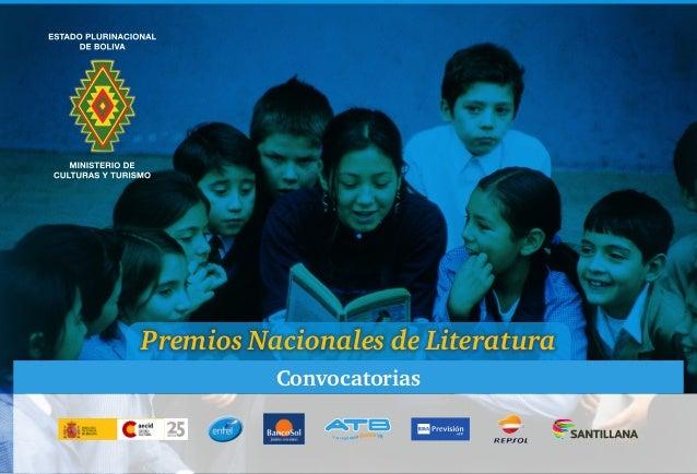 Premios Nacionales de Literatura Convocatorias