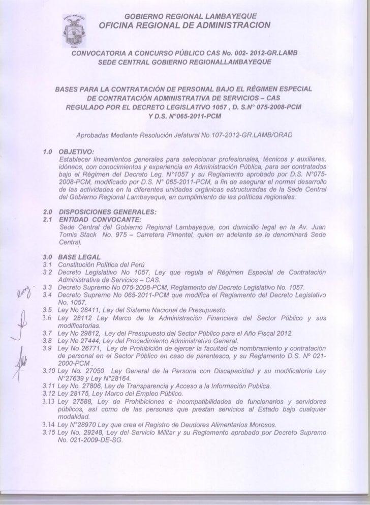 Convocatoria gobierno regional