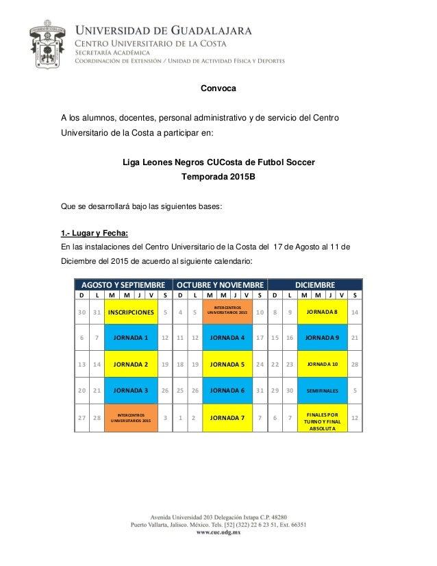 Convoca A los alumnos, docentes, personal administrativo y de servicio del Centro Universitario de la Costa a participar e...