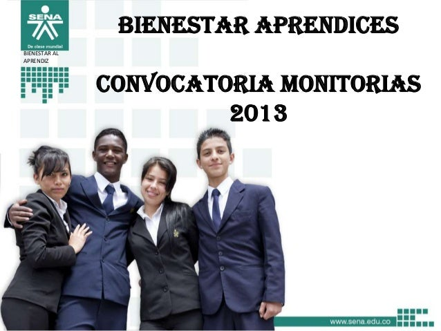 Convocatoria monitorias 2013