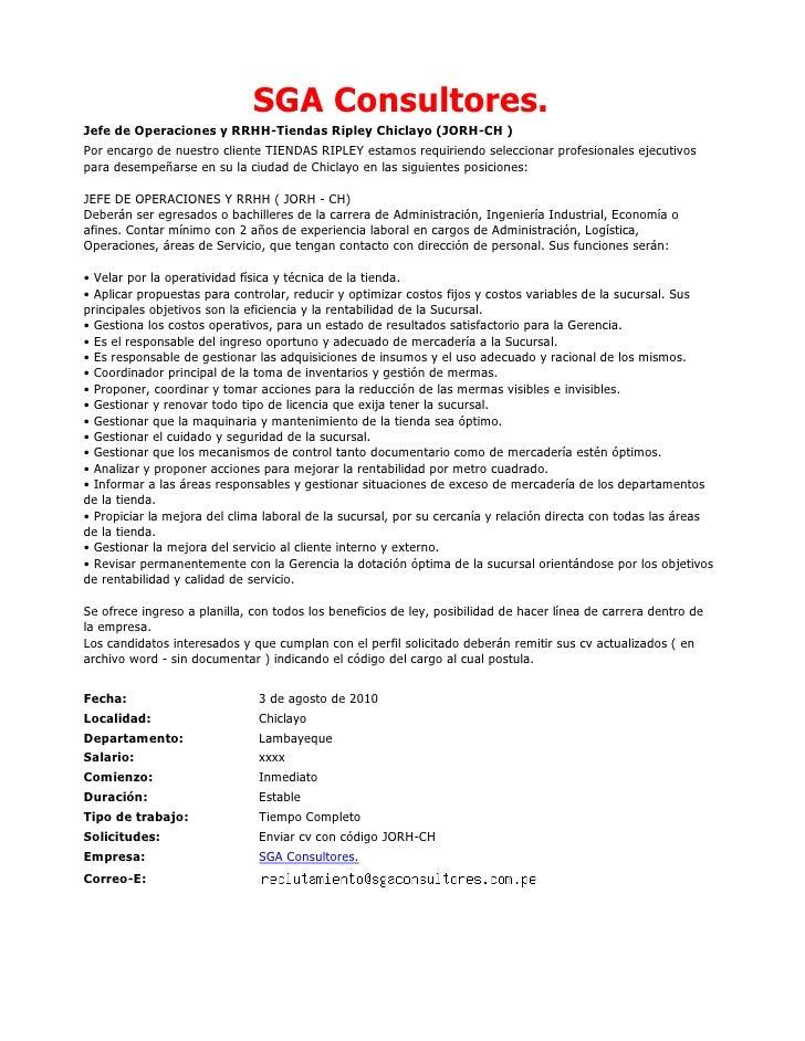 Convocatorias De Personal (03 08 10)