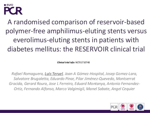 A randomised comparison of reservoir-based polymer-free amphilimus-eluting stents versus everolimus-eluting stents in pati...