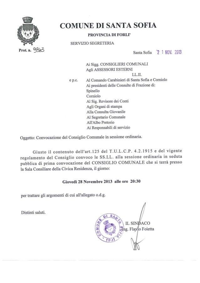 Consiglio Comunale 28/11/2013