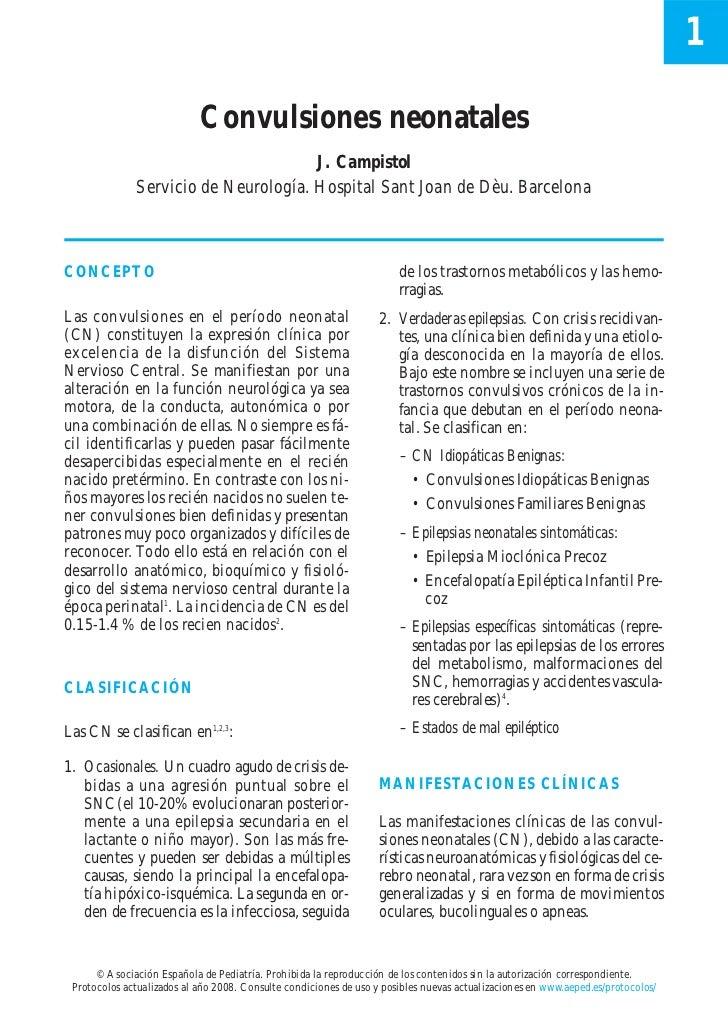 1                            Convulsiones neonatales                                      J. Campistol              Servic...
